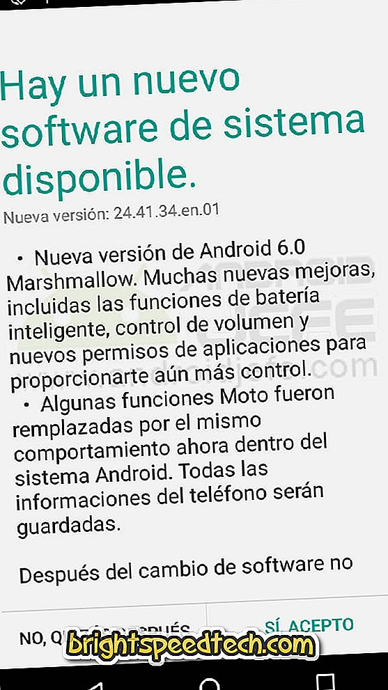 "Download de Android 6 ""Marshmallow"" -update voor de tweede generatie Moto G - Android OS"